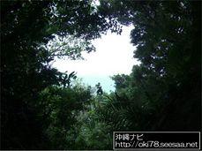 200807斎場御嶽〜三庫理から見た久高島.JPG