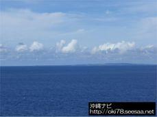 200807辺戸岬から見た与論島.jpg